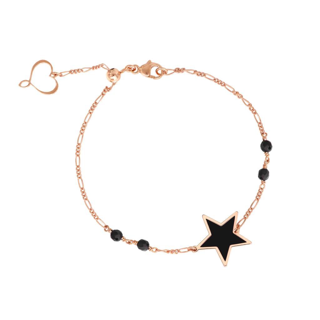 Bracciale Maman et Sophie con catena con stella in smalto nero - MAMAN ET SOPHIE