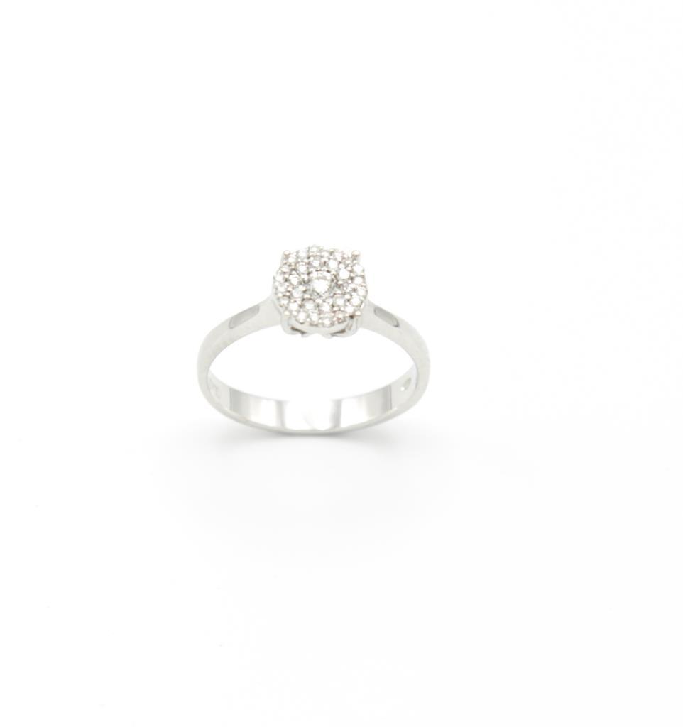Anello Solitario Pavè Diamanti - LORENZO SEGONI DIAMONDS