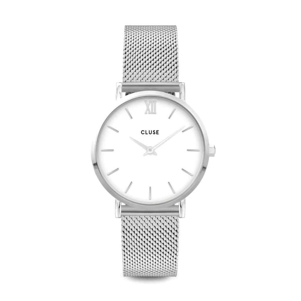 Orologio Cluse Minuit Mesh Silver White/Silver - CLUSE
