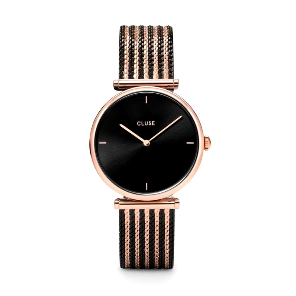 Orologio Cluse Triomphe Mesh Rose Gold Black/Black/Rose gold - CLUSE