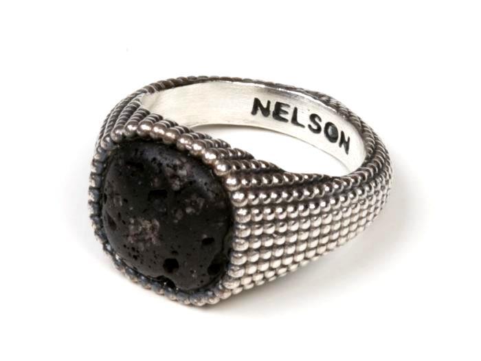 Anello Nelson Bastille Nero - NELSON