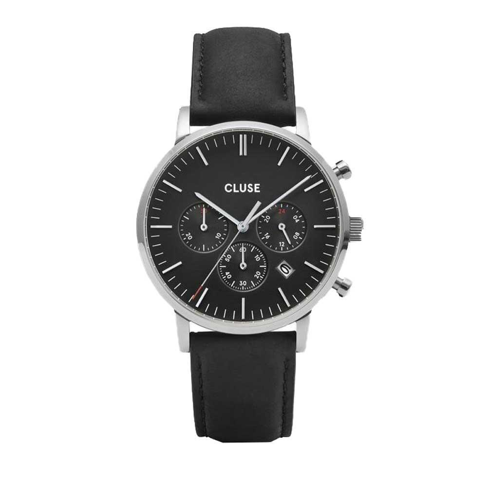 Aravis chrono leather silver black/black - CLUSE