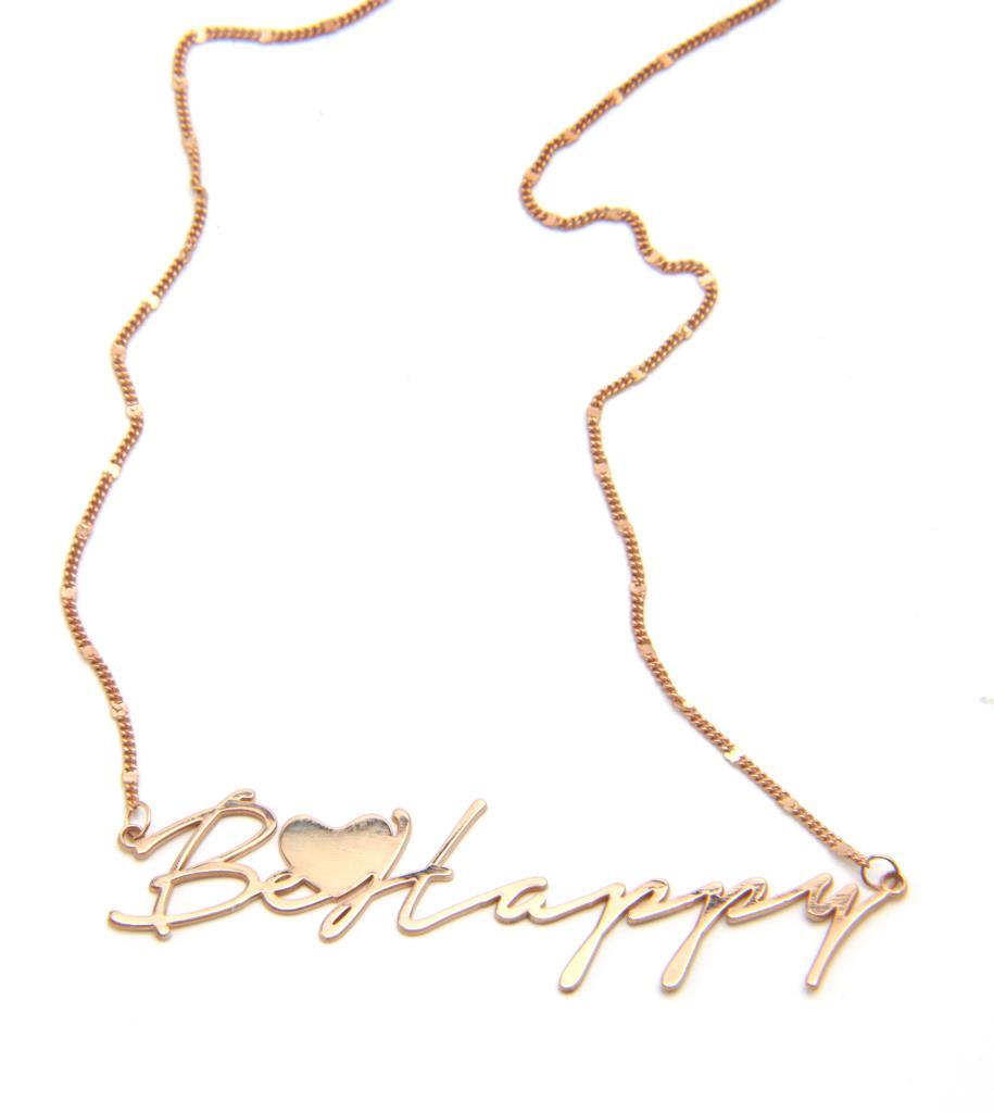 """Collana """"Be Happy""""  Personalizzabile - LORENZO SEGONI SILVER"""