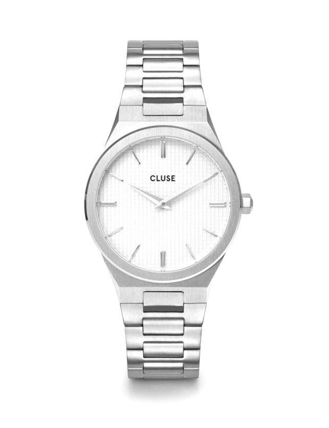 Orologio Cluse Vigoureux Steel White, Silver Colour - CLUSE